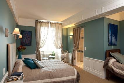 La chambre bleue une d coration raffin e une ambiance paisible - Decoration chambre bleue ...